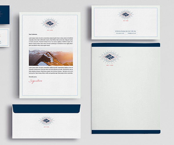 Brand identity on letterhead & envelope stationery